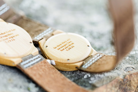 Jalyn and Josh's Wedding Ceremony | Tree Hut engraved wood watches as perfect wedding, anniversary, or groomsmen gifts | Engrave yours today!