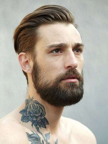 Lumbersexual hairstyle