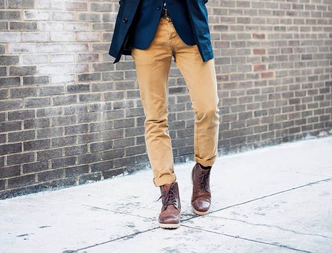 Style Hack: Use Colorful Slacks to Match with Colorful Hiking Boots