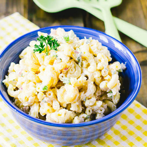 11 Tasty Recipes for a Fathers Day Cookout: Crab Macaroni Salad