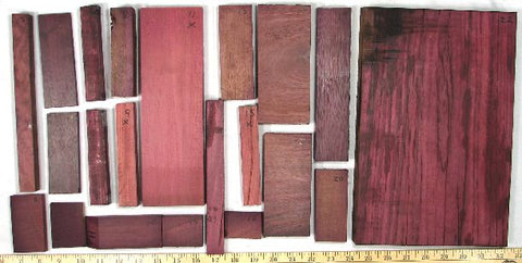 Purpleheart Wood | Purple, brown, black, maroon, color changes