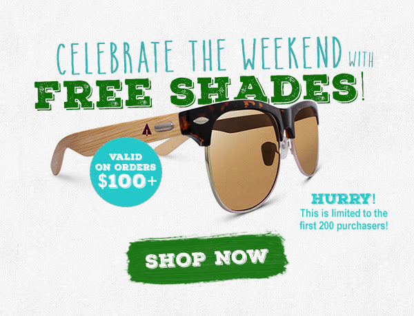 Free wooden sunglasses