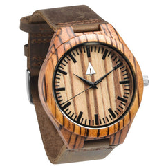 zebra wood wooden watch by treehut.co