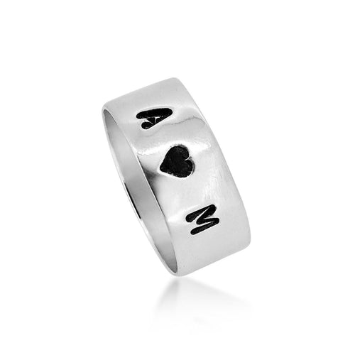 Sterling Silver 925 Engraving ring