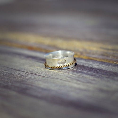 Intertwined Love Spinner Ring