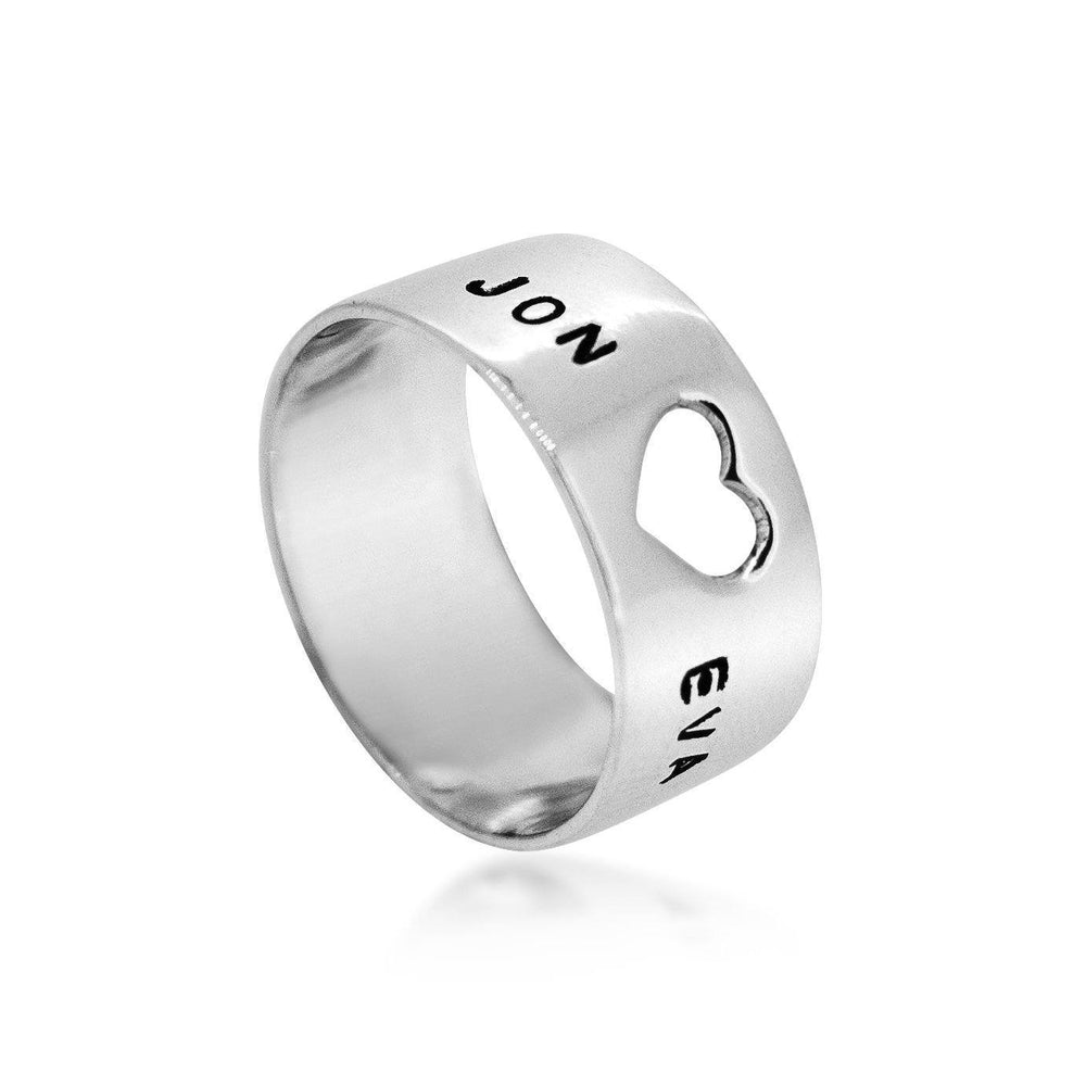 Heart Sterling Silver 925 Stamped Ring