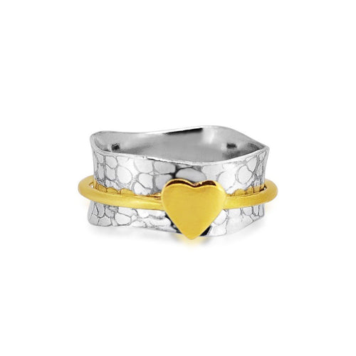 Sailing Heart Sterling Silver 925 Spinner Ring