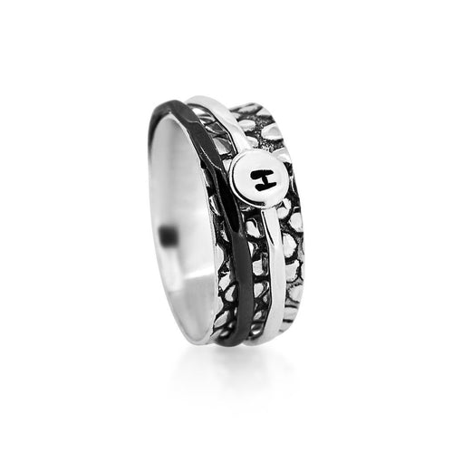 Initial Sterling Silver 925 ring