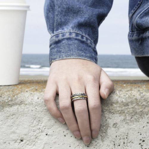 Pebble Beach Handmade Silver Ring