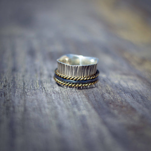 Trilogy Spinner Ring