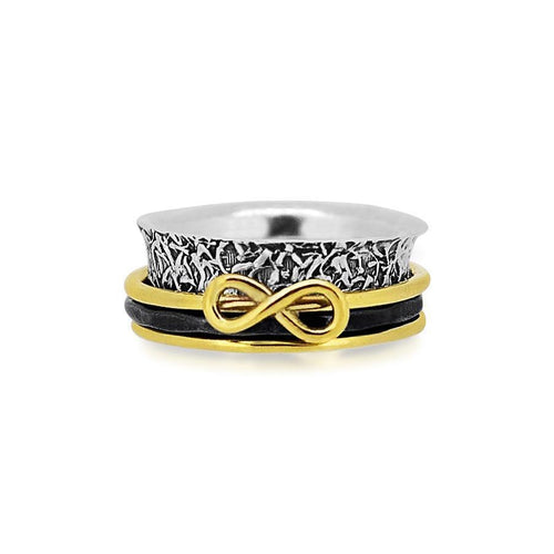 Eternal Love Sterling Silver 925 spinner ring