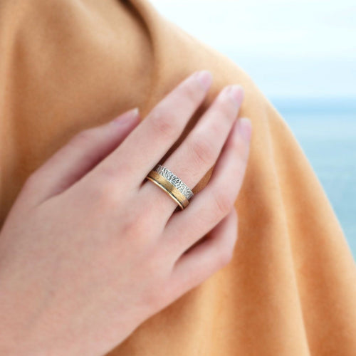 Gold - Sterling silver 925 ring