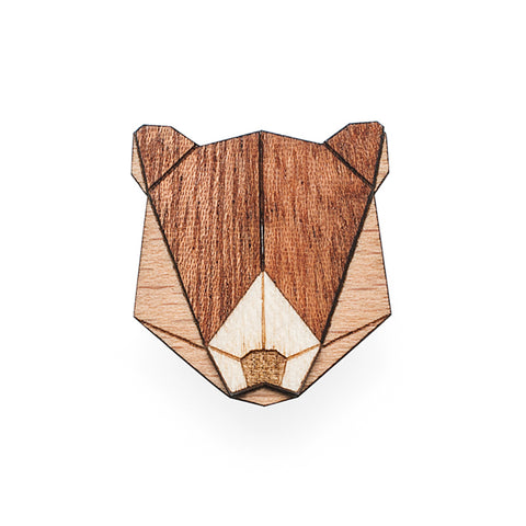 Wooden Bear Pin