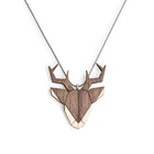 Wooden Deer Necklace