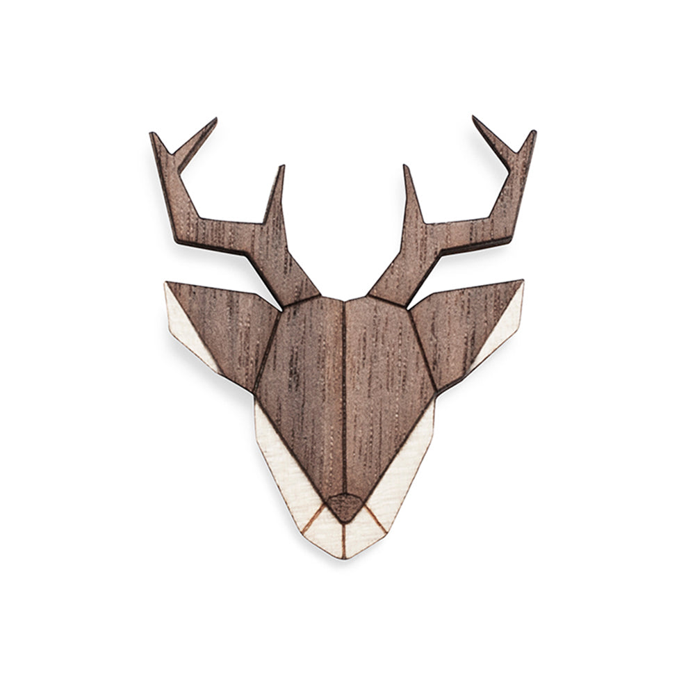 Wooden Deer Pin