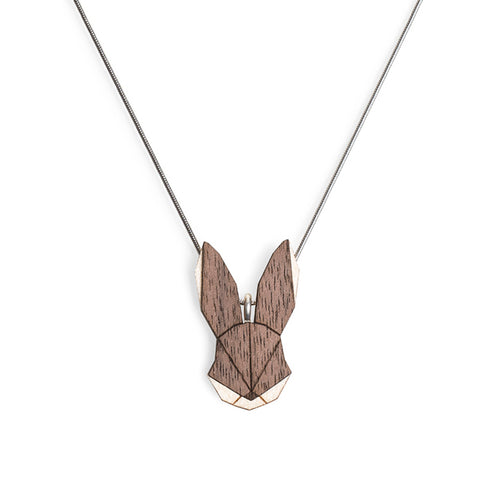 Wooden Hare Necklace