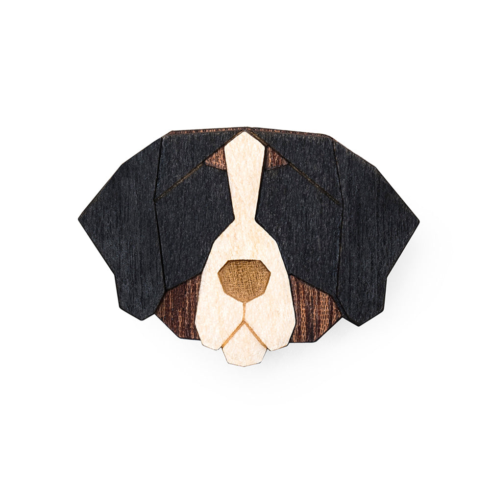 Wooden Bernese Mountain Dog Pin
