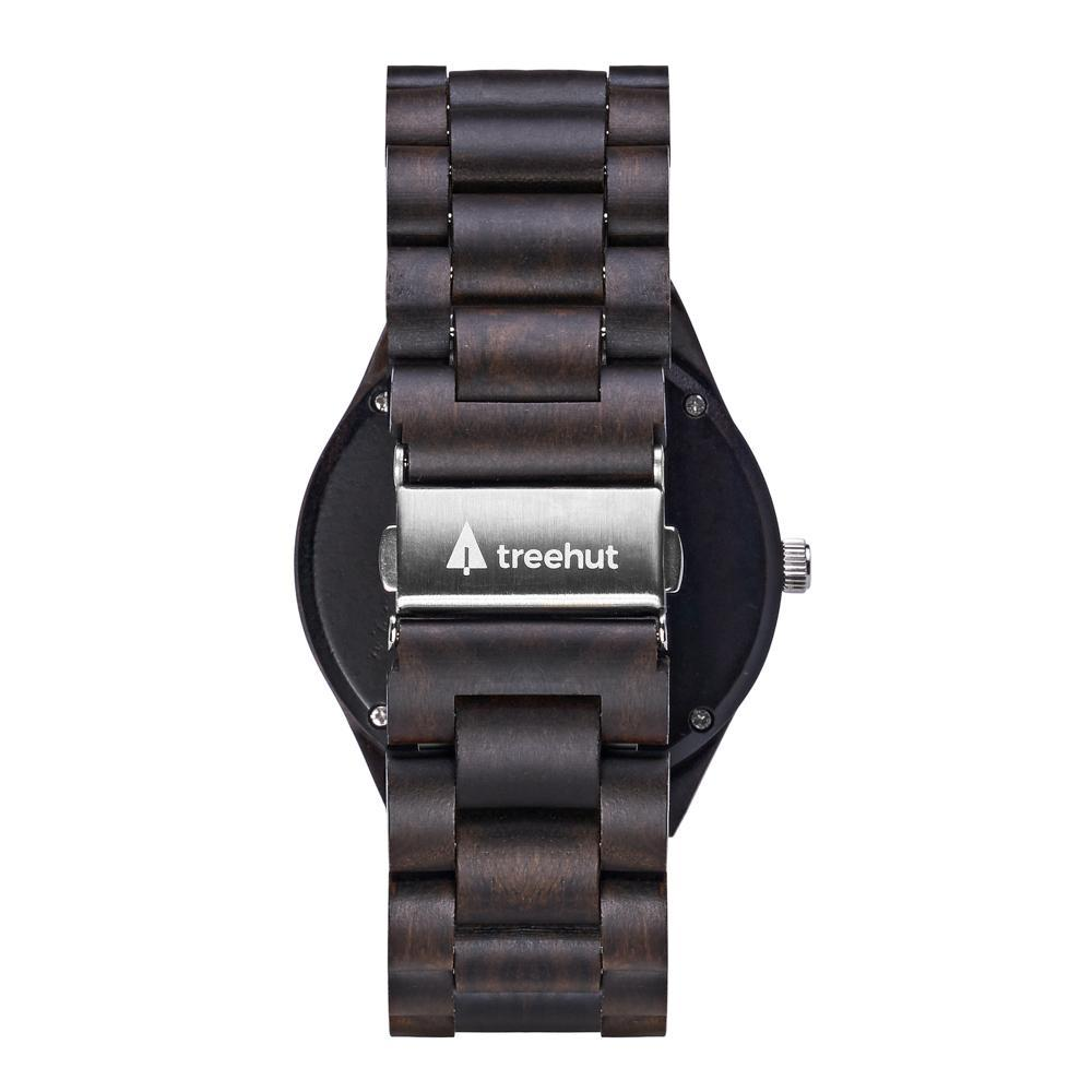 Treehut Classic All Ebony Theo Blue all wooden watch