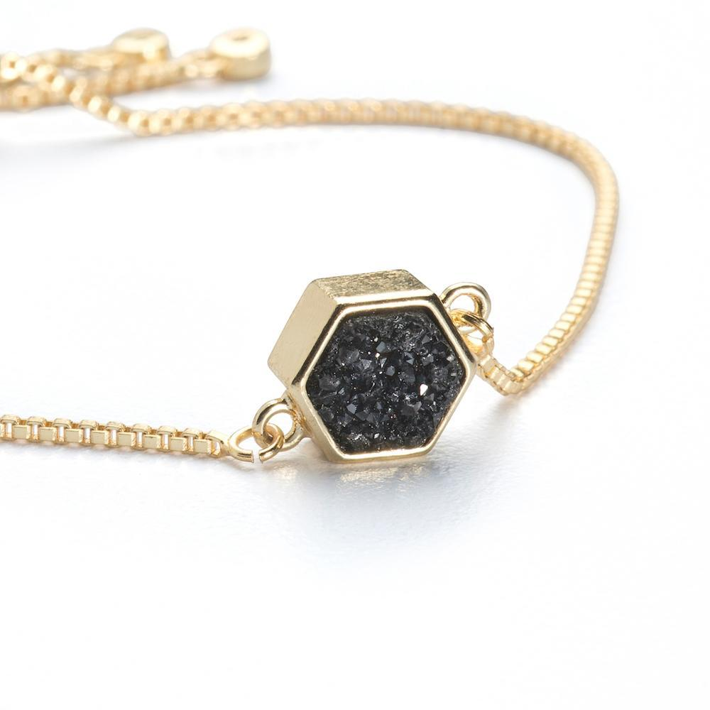 Lyla Midnight Hexagon Bracelet