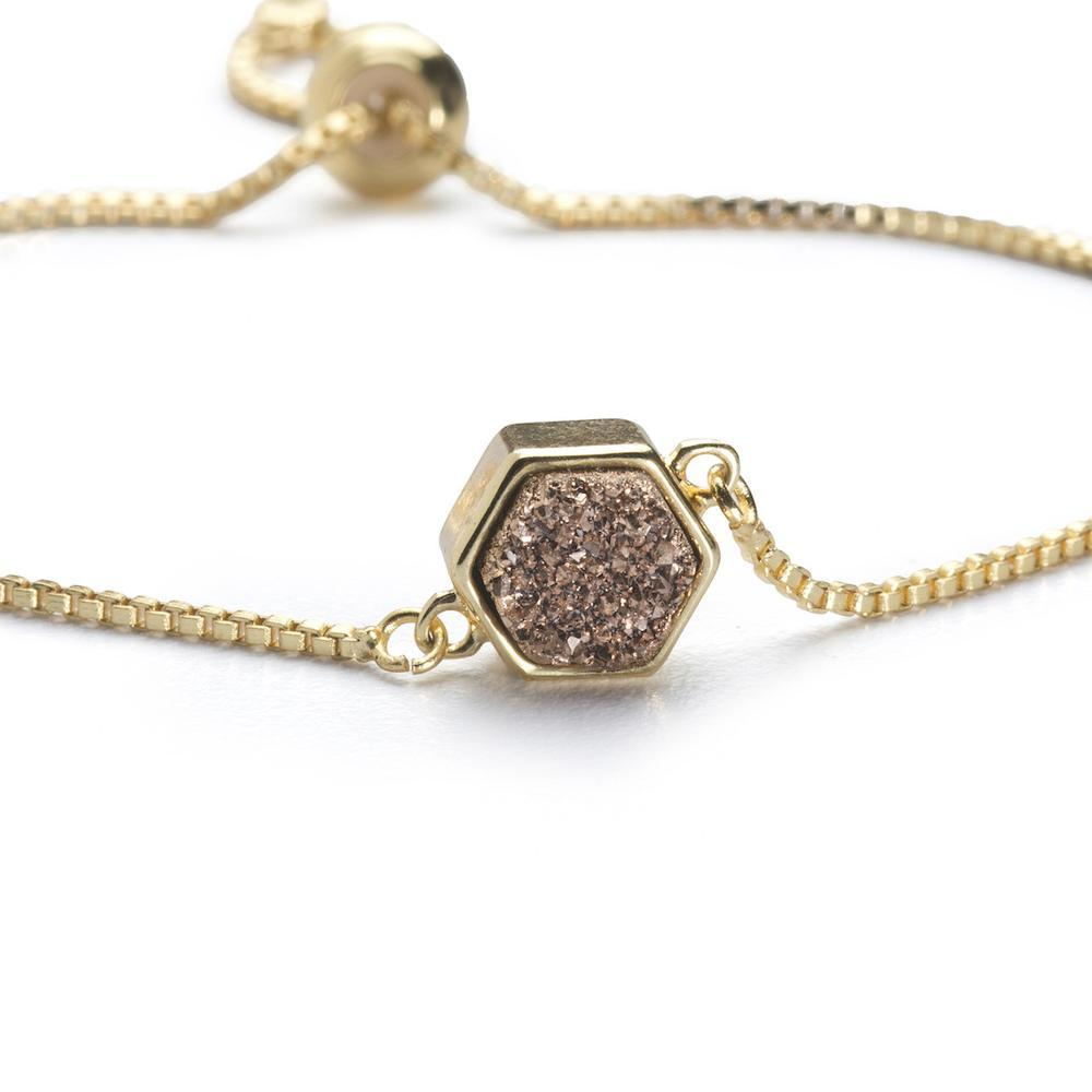 Lyla Rose Gold Hexagon Bracelet