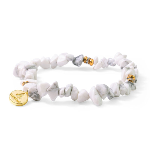 Brook White Marble Bracelet