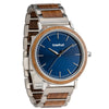Treehut Bay Walnut Blue Sunray Silver men's watch