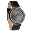 Treehut  Bay Ebony Grey Black Leather men's watch