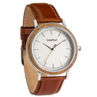 Bay Walnut White Cognac Leather