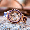Aster Violet Wood Rose Gold
