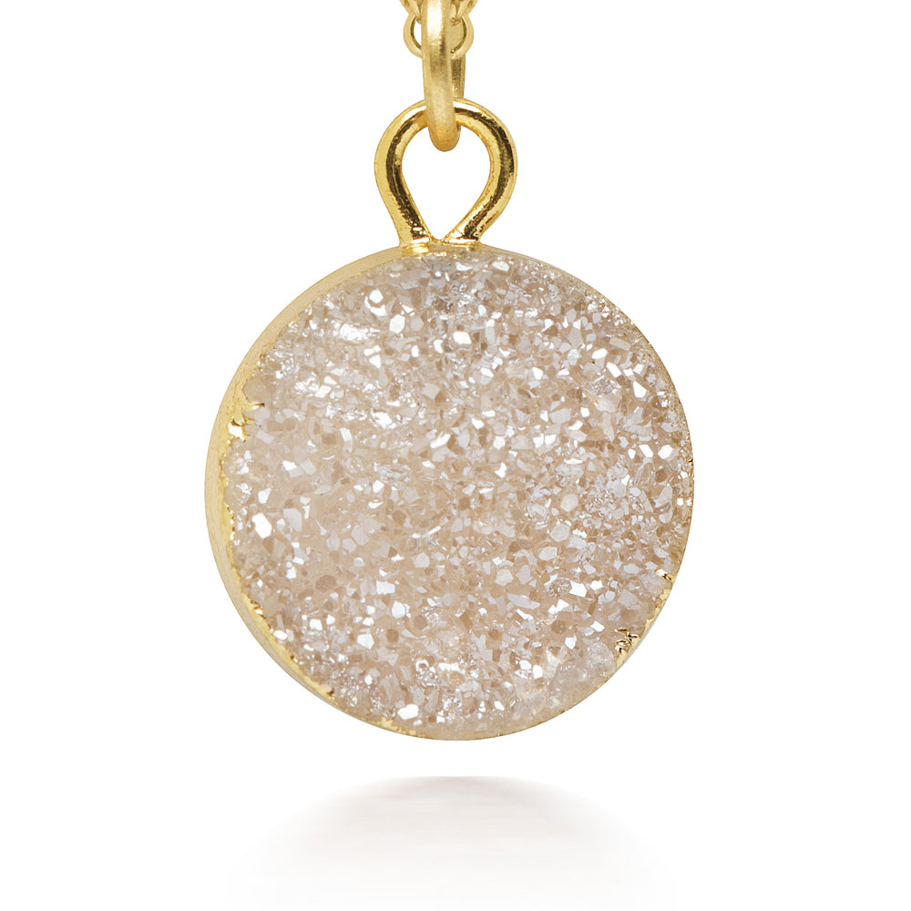 Terra Champagne Druzy Necklace