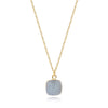 Reina White Druzy Necklace