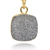 Reina Silver Druzy Necklace