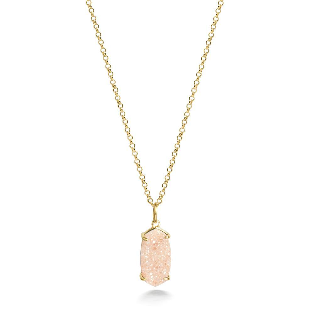 Arya Rosegold Druzy Necklace