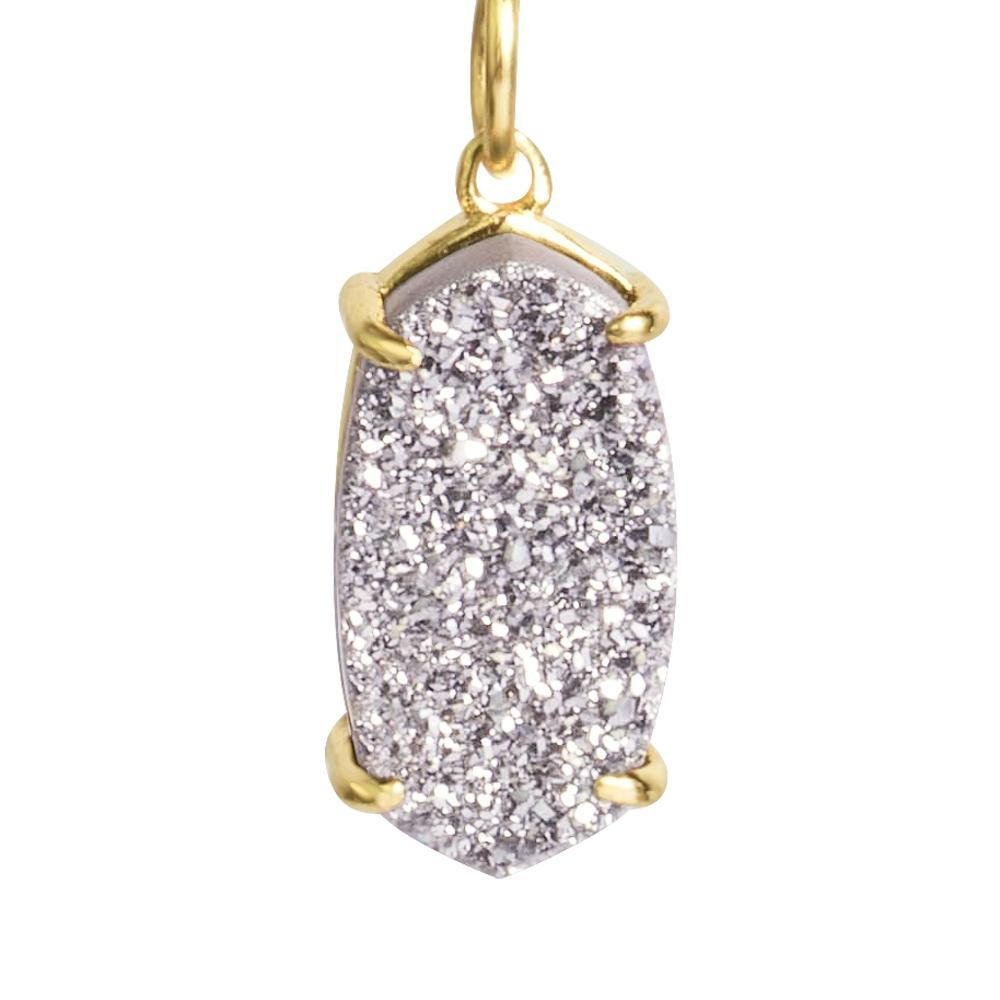 Arya Grey Druzy Necklace