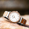 Bay Walnut Silver men's watch