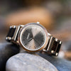 Treehut Bay Ebony Grey Sunray Silver men's watch