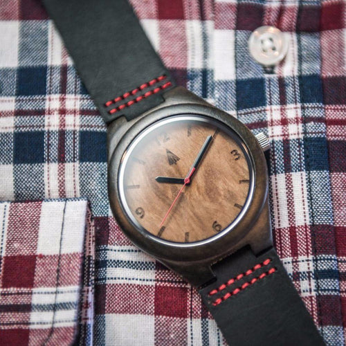 Ebony Watch // Maple Burl