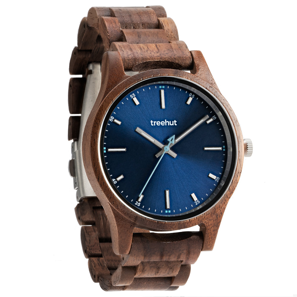 Treehut Dubline Walnut Blue mens watch