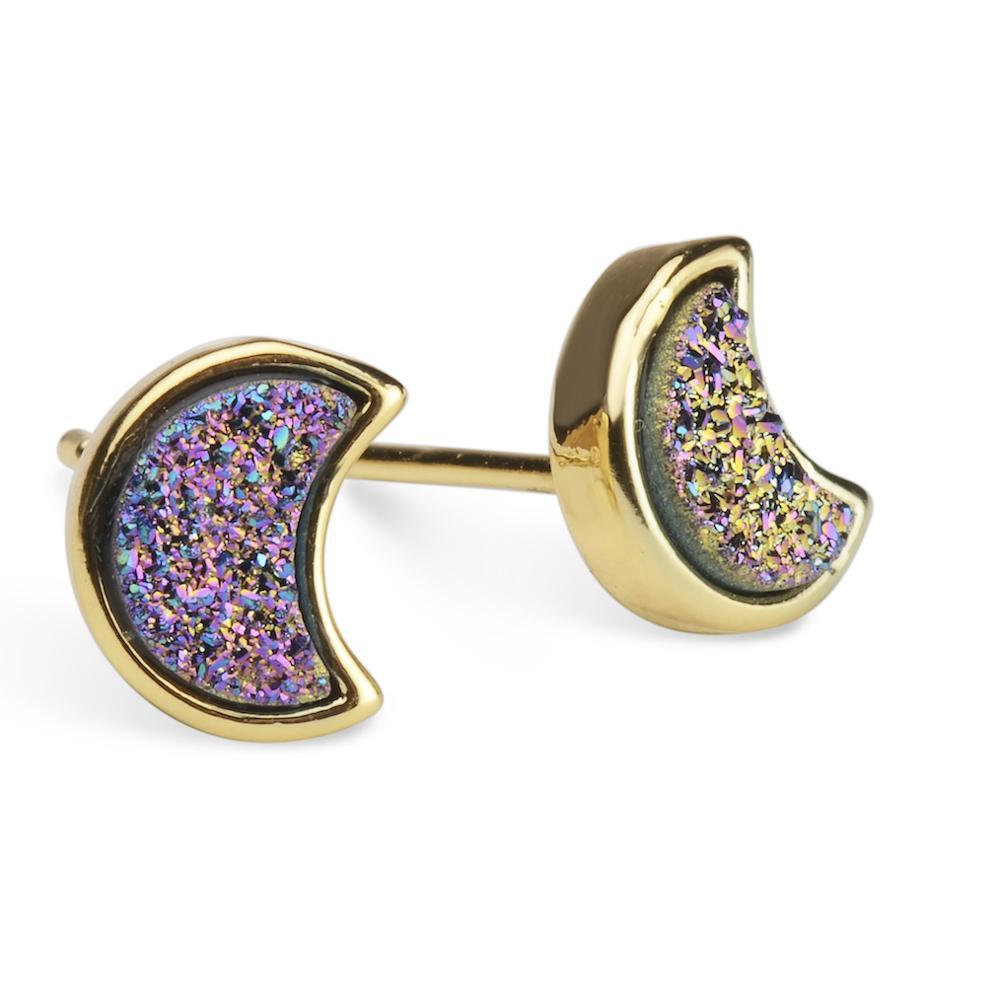 Moonbloom Rainbow Druzy Earrings