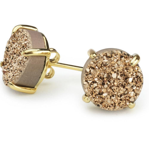 Bloom Rose Gold Druzy Earrings