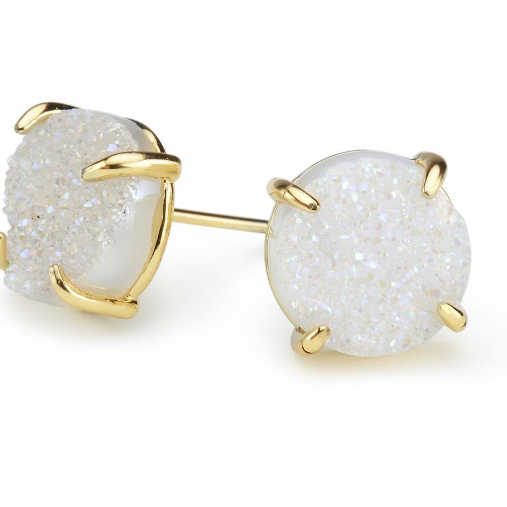 Bloom Ivory Druzy Earrings