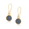 Geo Blue Druzy Earrings