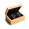 Two Watch Bamboo Gift Box