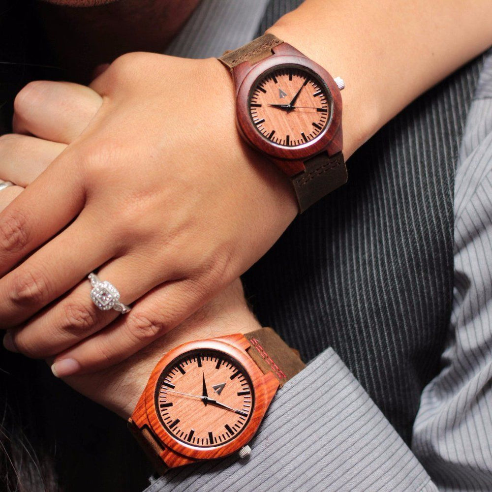 Couples Wooden Watches // Red wood