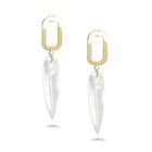 Feather Shell Drop Earrings