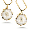 Geode Crystal Drop Earrings