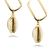 Gold Dipped Shell Drop Earrings