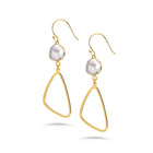 Aria Pearl Drop Earrings