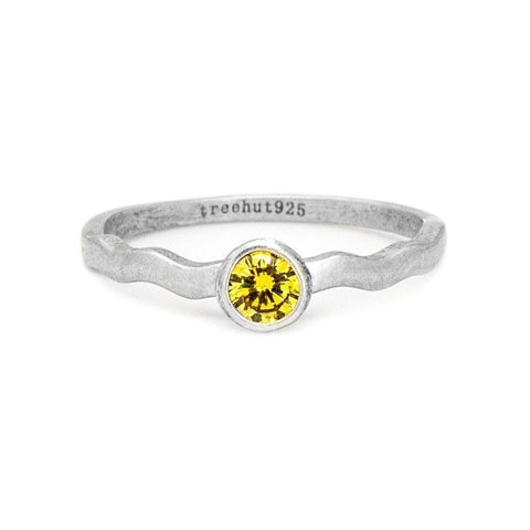 November Topaz Birthstone Ring