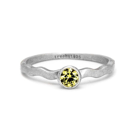 August Peridot Birthstone Ring
